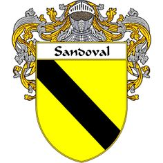 Sandoval Coat of Arms   http://spanishcoatofarms.com/ has a wide variety of products with your Hispanic surname with your coat of arms/family crest, flags and national symbols from Mexico, Peurto Rico, Cuba and many more available upon request.