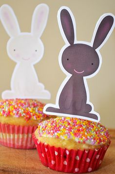 Easter Cupcake Toppers - picklebums.com