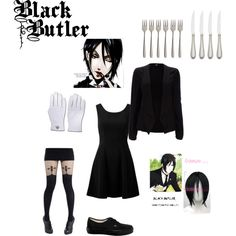 """Black Butler - Sebastian"" by tooshotaforyou on Polyvore"