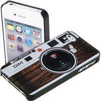 Yayago Retro Back Cover Kamera Design für Apple iPhone 5 / 5S Tasche Case Hülle Braun