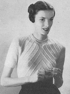 1948 Knit Chevron Tucks