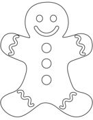 Plain Gingerbread Man coloring page from Christmas Gingerbread category. Select from 31983 printable crafts of cartoons, nature, animals, Bible and many more. Gingerbread Man Decorations, Gingerbread Man Crafts, Paper Christmas Decorations, Christmas Gingerbread, Gingerbread Man Coloring Page, Christmas Tree Coloring Page, Free Printable Coloring Pages, Free Coloring Pages, Preschool Christmas