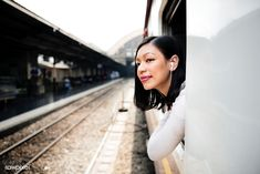 Asian woman riding a train Female Personal Trainer, Online Personal Trainer, Thailand Adventure, Sculptural Fashion, Real People, Ladies Day, Asian Woman, Business Women, Fit Women