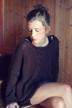 KNITTING PATTERN Summer Night Sweater Instant by silverishmoon
