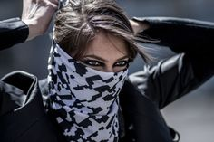 Backslash Kit: This smart bandana is developed using a computer-generated pattern inspired by the traditional kaffiyeh, an important symbol of activism. With this bandana, protesters are able to preserve their identity while embedding hidden messages in it. Unlike QR codes, messages are not stored in the pattern itself. The pattern provides an extra layer of authentication, a tracker, a way to unlock the message. Different messages can be unlocked depending on the way you fold the bandana.