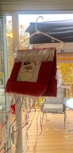 Santa Paper Bag Pinata with pull strings for 2-3 year olds