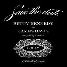 Save the Date Card - Victorian Wedding