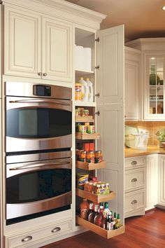 Do you want to have an IKEA kitchen design for your home? Every kitchen should have a cupboard for food storage or cooking utensils. So also with IKEA kitchen design. Here are 70 IKEA Kitchen Design Ideas in our opinion. Hopefully inspired and enjoy! Farmhouse Kitchen Cabinets, Modern Kitchen Cabinets, Modern Farmhouse Kitchens, Kitchen Cabinet Design, Cool Kitchens, Narrow Kitchen, Kitchen Small, Kitchen Island, Pantry Cabinets