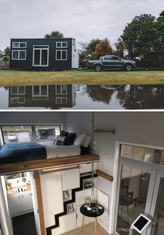 Millenial Tiny House on wheels design ideas Tiny House Ideas Design House Ideas Millenial Tiny Wheels Buy A Tiny House, Tiny House Stairs, Building A Tiny House, Tiny House Cabin, Tiny House Living, Tiny House Plans, Tiny House On Wheels, Micro House, Tiny House Movement