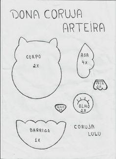 DONA CORUJA ARTEIRA: MOLDE DA CORUJINHA  LULU