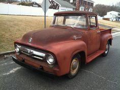 1956 Ford F100 Pickup Big Back Window Truck Original V8