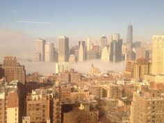 Twitter user Michael Rohrer captured this mystical shot of New York City as fog creeps over the skyline on the morning of Jan. 15, 2014.