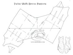 I've moved the pattern making instructions to the new blog!  Pattern Puzzle - Twist or Cowl Shift Dress