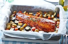 Maple Glazed Roast Salmon - Tesco Real Food - Tesco Real Food