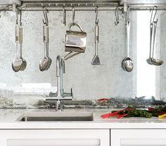 Kitchen Splashback - Mirrored Vintage Style