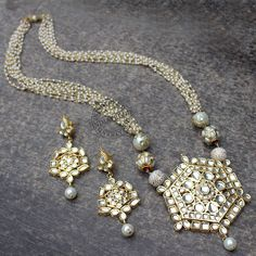 Dilkash Necklace + E  Dilkash Necklace + Earrings by Indiatrend. Shop Now at  WWW.INDIATRENDSHO...