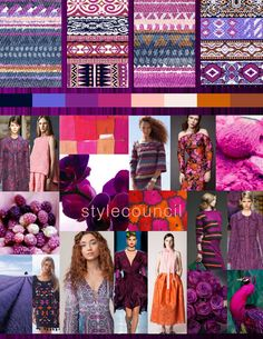 Style Council : Be Berry Inspired - That raspberry pink mixed with sparkling grape creates a fantastic apricot pop.  The orange hues are complimentary to the beautiful purples in our striped layouts.