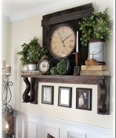 This set up for a wall mantel eliminates the need for a fireplace