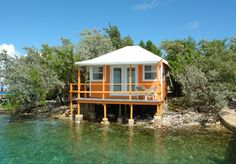 The Orange Oceanfront Bungalow at the Staniel Cay Yacht Club