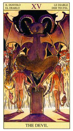 Tarot Rider Waite Arcano XV El Diablo Version Raul y Ginaluca Cestaro