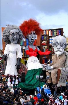 Looks like members of my family. Or maybe members of my psyche. Same-o, same-o. Carnevale di Viareggio 2014#carnevale Lucca Tuscany