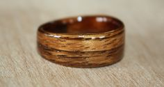 Tyler's Dark Zebra Wood Ring with a hidden taper.