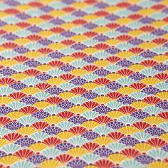 友禅紙 菊青海波 ミックス2枚入 - WACCA ONLINESHOP Textile Design, Washi, Outdoor Blanket, Textiles, Japanese, Paper, Style, Swag, Japanese Language