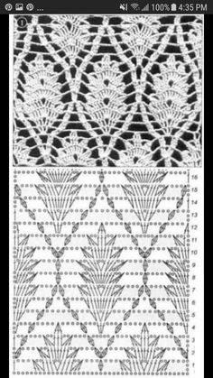 Débardeurs Au Crochet, Crochet Diagram, Crochet Chart, Tunisian Crochet, Irish Crochet, Thread Crochet, Crochet Coaster, Doilies Crochet, Crochet Edgings