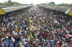 ON THE TRACKS: Activists from the All Bodo Students Union, along with other Bodo organizations, blocked railway tracks during a protest at a train station at Kokrajhar in the northeastern Indian state of Assam Friday. Thousands protested to demand a separate Bodoland state carved out of Assam. (Reuters)