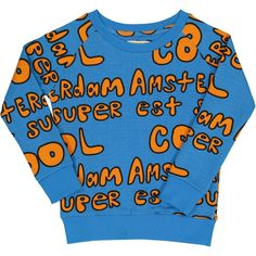 Amsterdam est super cool = Amsterdam is super cool in French 100% GOTS organic cotton enzyme wash  stretchy waist, cuffs, and neck. these run large. Please measure and refer to size chart.