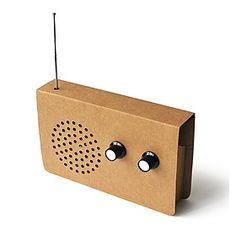 Radio FM y Altavoz de Cartón
