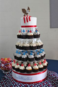 Eagle Scout cupcake tree