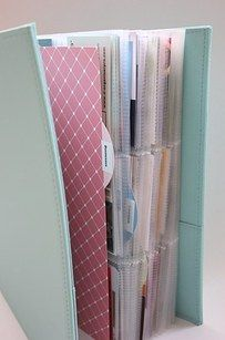 And another binder for filing all of those business cards. | 19 Adorable Things That Will Actually Organize Your Desk