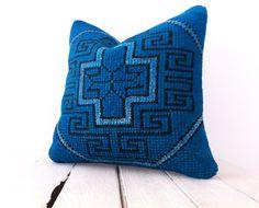 Cushion Cover Pine Green Kilim Pillow Sham Decorative Throw Pillow Ethnic Wool 16x16 Bohemian Vintage HandWoven Pillow Modern Home Decor
