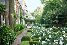 Der moderne Klassizismus von Thomas Pheasant in Veranda Southampton, Formal Gardens, Outdoor Gardens, Amazing Gardens, Beautiful Gardens, Hampton Garden, Veranda Magazine, White Gardens, Garden Care