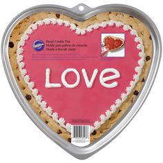 This giant Wilton® heart-shaped cookie pan will help you create a jumbo cookie in a cute heart shape that will be a big hit for any occasion. This pan will also work for brownies! Heart Shaped Cookies, Heart Cookies, Pan Cookies, Cookies Et Biscuits, Wilton Cake Decorating, Cake Decorating Tools, Cupcakes, Cupcake Cakes, Refrigerated Cookie Dough