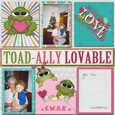 Kit used:  BoomersGirl Designs' Toad-ally Loveable available at http://daisiesanddimples.com/index.php?main_page=product_info&cPath=8_135&products_id=6372 Template by Arizona Girl