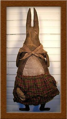 Mildred Bunny Primitive Pattern by softinthehead on Etsy, $10.00