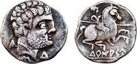 Celtic Denarius CELTIC AR Denarius. EF-/VF+. Spearman to right. Circa 120 a.C. Scarce Mint.