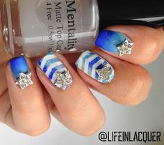 Life in Lacquer: Life in Lacquer Nail Art Challenge: BLUE