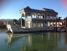 The Summer Palace, Beijing. The Marble Boat. Summer Palace, Beijing, Marble, Boat, In This Moment, Mansions, Architecture, House Styles, Home Decor