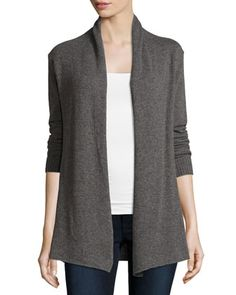 Cashmere+Basic+Open-Front+Cardigan,+Gray+by+Republic+Clothing+Group+at+Neiman+Marcus+Last+Call.