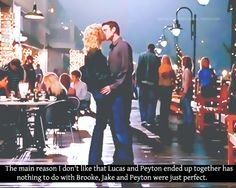 I'm glad Peyton ended up with Lucas but I really did love her and jake together
