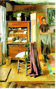 painting by Vanessa Bell (artist sister of Virginia Woolf), at Charleston House, the countryhouse HQ of the Bloomsbury group. Vanessa Bell, Virginia Woolf, Renoir, Monet, Bell Art, Bloomsbury Group, Chef D Oeuvre, Post Impressionism, Les Oeuvres