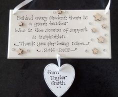 Personalised Great Teacher Thank You Plaque, D2, Tutor, Mentor, College Student, Student Nurse, Leaving Gift, Graduation, Custom Sign