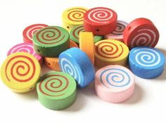 Rainbow Creations Wooden Spiral Beads
