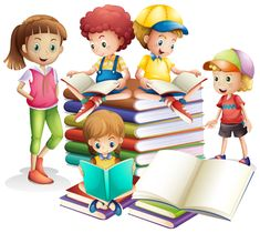 Cute boy and girl reading books Free Vector Girl Reading Book, Kids Reading, Reading Books, Teaching Skills, Teaching Materials, Adobe Illustrator, School Clipart, Video Games For Kids, Book Cover Design