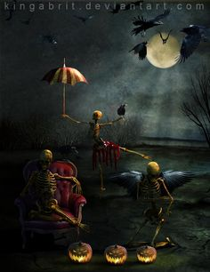 Skeletons Night Off by kingabrit.deviantart.com on @deviantART