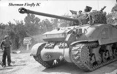 Stock Photo - The British Army in Normandy 1944 A Sherman Firefly advances towards Aunay-sur-Odon, 31 July - 1 August 1944 Image Avion, Sherman Firefly, Patton Tank, Tank Armor, Sherman Tank, Military Armor, History Online, British Army, British Tanks