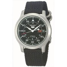 Seiko Men's SNK809 Seiko 5 Automatic Black Canvas Strap Watch (Watch)  http://www.1-in-30.com/crt.php?p=B002SSUQFG  B002SSUQFG